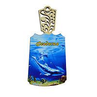Доска разделочная Феодосия - Стая дельфинов