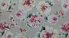 Обивочная ткань для мебели Принт Бегония 199