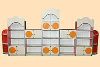 Стенка детская 7 элементов + МДФ накладки 3600х300х1700 мм