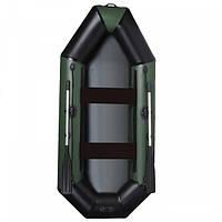 Лодка для охоты и рыбалки AquaStar B-275 без настила зеленая