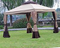 Садовый павильон Bella Vita DU063 с москитной сеткой, тент с пропиткой ПВХ, каркас металлический, 3х3 м