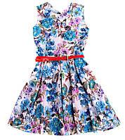 """Детское нарядное платье """"Цветы и бабочки"""""""