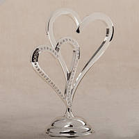 "Свадебная Статуэтка ""Два сердца"" 22 см на стол молодоженам"