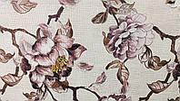 Мебельная ткань Принт Камелия беж