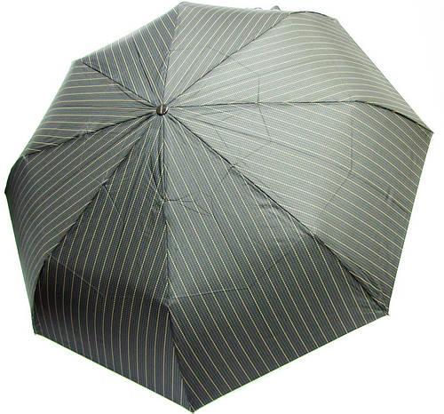 Прочный мужской зонт автомат, антиветенр DOPPLER (ДОППЛЕР) 746967FGB-2 серый