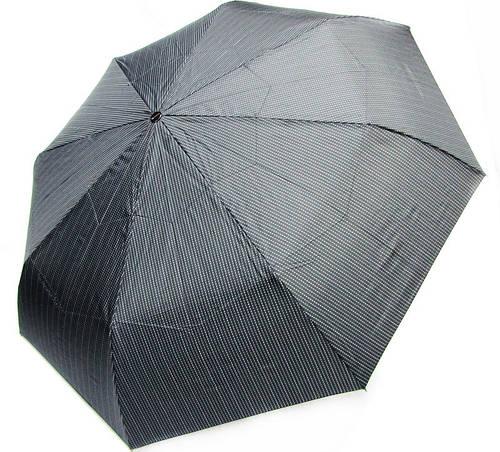 Мужской автоматический зонт, антиветенр DOPPLER (ДОППЛЕР) 746967FGB-4 серый