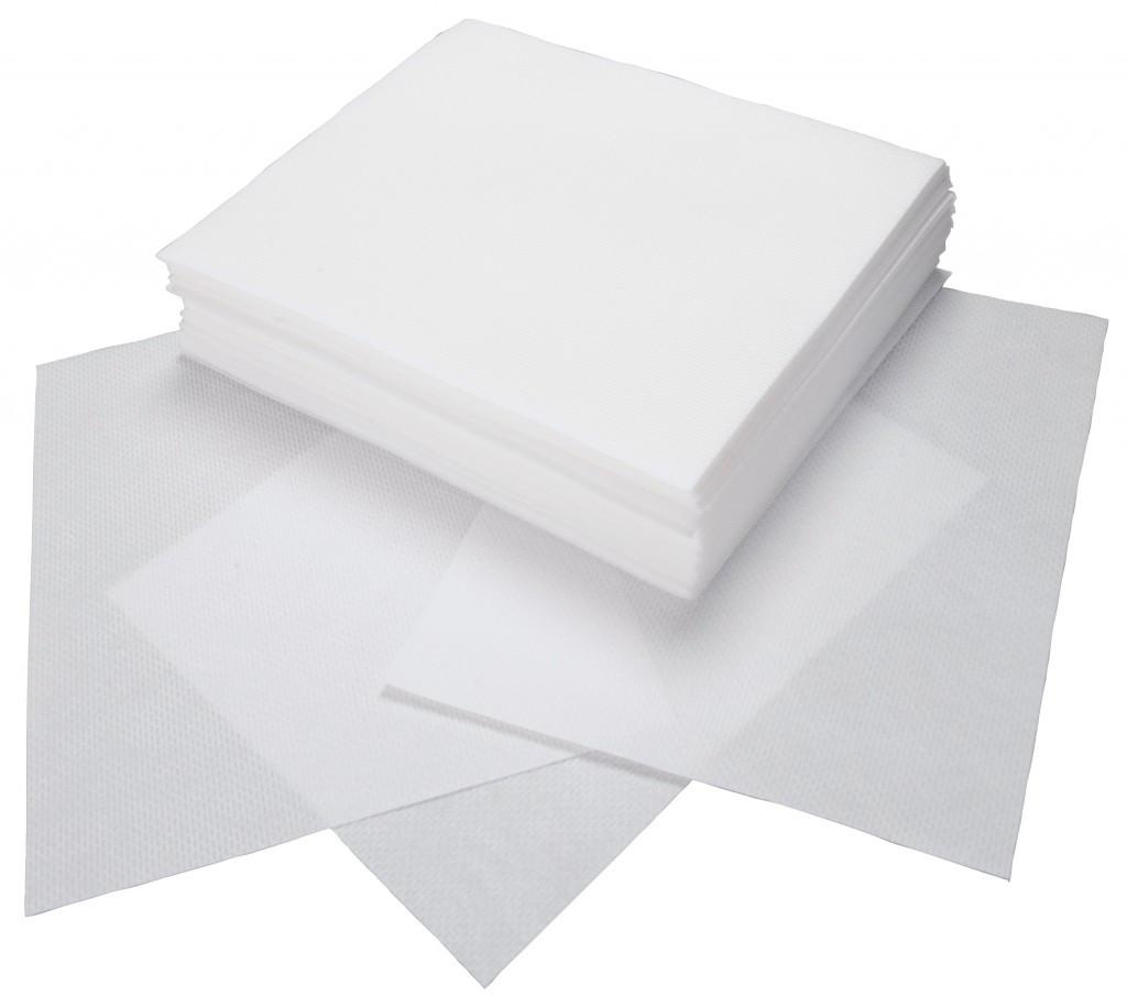 Безворсовые салфетки, 100 шт (маленькие)
