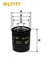 Фильтр масляный WIX WL7177