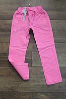 Стрейчевые катоновые брюки для девочек 98- 104 рост