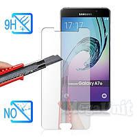 Защитное стекло для экрана Samsung Galaxy A7-2016 (a710) твердость 9H, 2.5D (tempered glass)