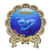 """Тарелка настольная """"Дельфины"""" Феодосия"""