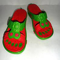 Женские шлепанцы двухцветные с амортизаторами, фото 1