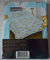 7823 голубой Ранфорс детское постельное белье Вилюта