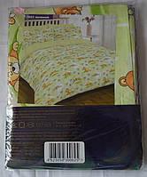 7823 зеленый Ранфорс детское постельное белье Вилюта