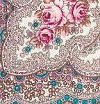 """Платок шерстяной с шелковой бахромой """"Фея сирени"""", 146x146 см. рис 406-1, фото 3"""