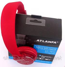 Навушники ATLANFA AT-7611A гарнітура з MP3 FM Bluetooth, червоні