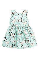 Платье hm девочка с бабочками+ новая коллекция
