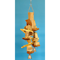 Деревянная игрушка для крупных попугаев.
