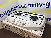 Плита газовая настольная Грета белая и коричневая, фото 1