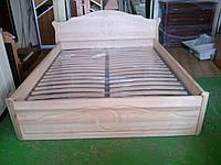 Кровать Лилия из массива ольхи.
