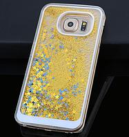 Пластиковый золотой чехол 3D для Samsung Galaxy S6 edge