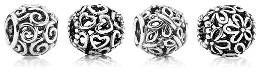 Серебряные шармы Пандора фото