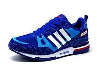 Кроссовки унисекс Adidas ZX750, текстиль, синие, р. 39