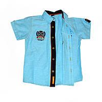Рубашка для мальчика на пуговицах