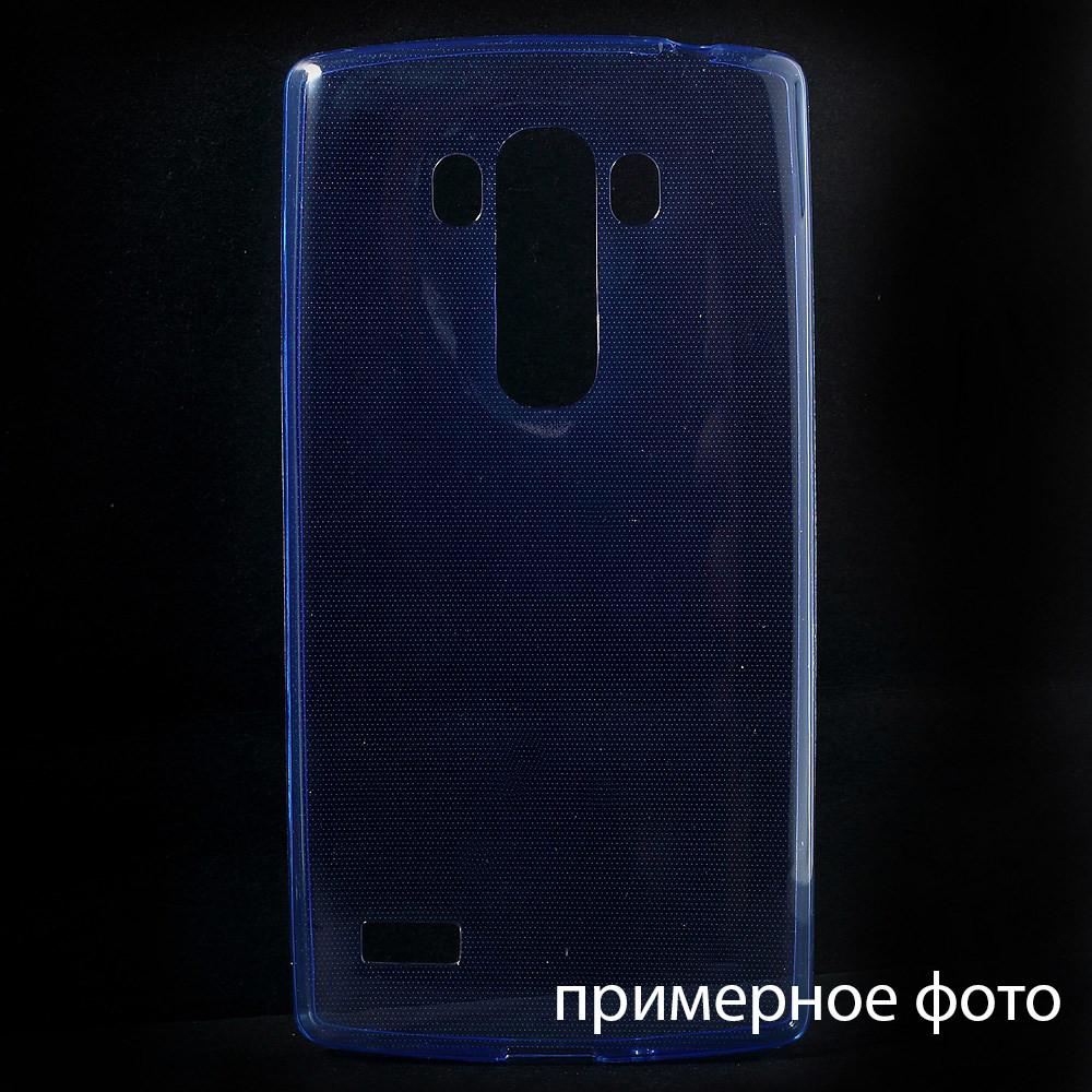 Чехол накладка силиконовый TPU Remax 0.2 мм для LG L70 D325 синий