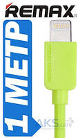 USB кабель REMAX light cable IPhone Green