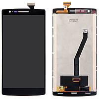 Дисплей (экран) для телефона OnePlus One + Touchscreen Original Black