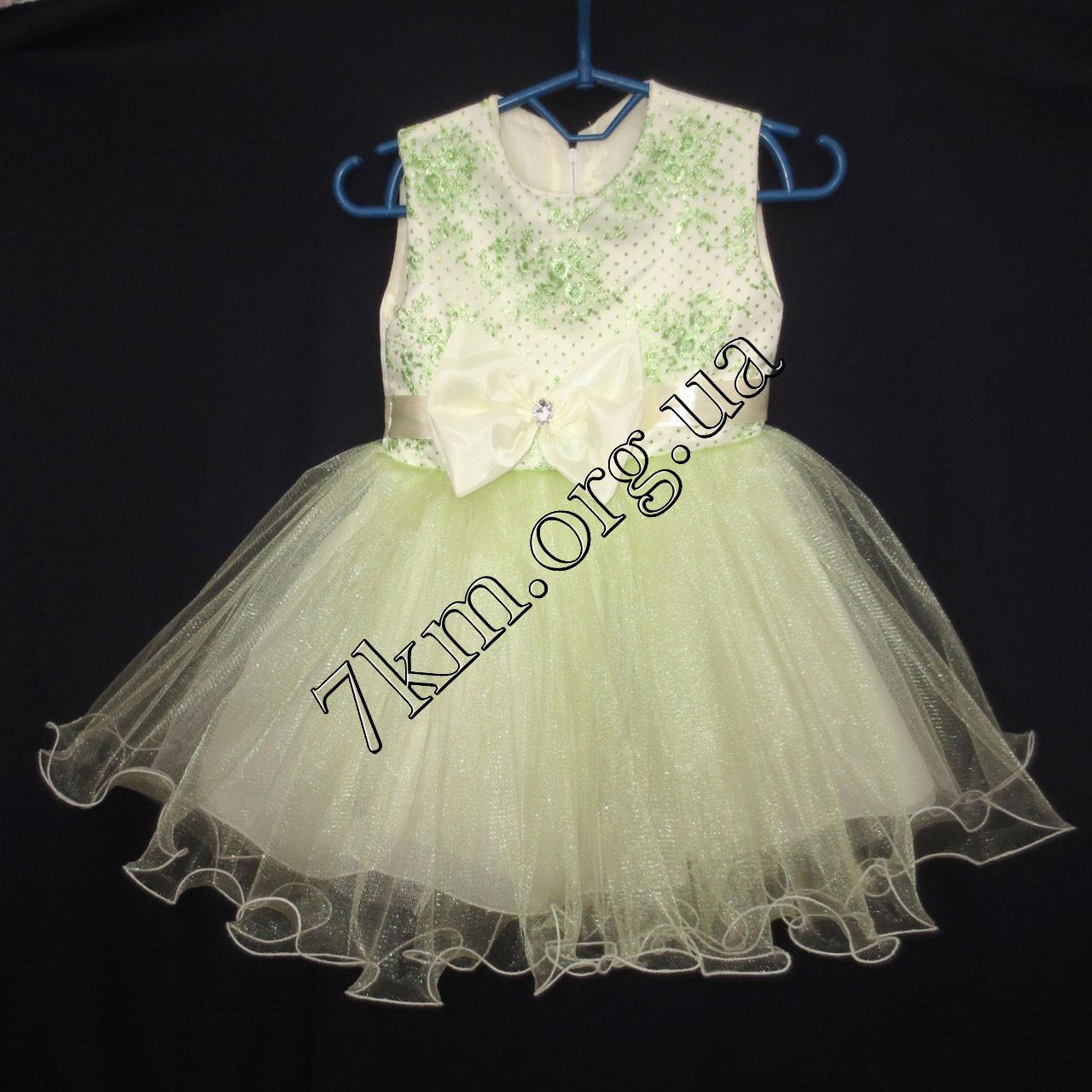 Платье детское нарядное для девочек 2-3 года Гипюр оливка Украина оптом.