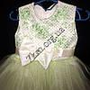Платье детское нарядное для девочек 2-3 года Гипюр оливка Украина оптом., фото 2