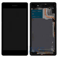 Дисплей (экран) для телефона Sony Xperia Z2 L50W D6502, D6503 + Touchscreen with frame Original Black