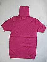 Женская водолазка с коротким рукавом розового цвета