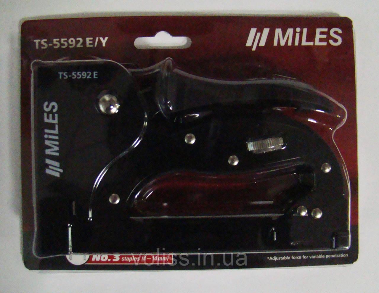Степлер Miles TS-5592E/Y 4-14 мм