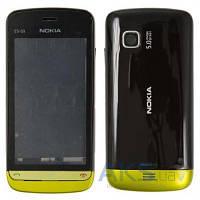 Корпус Nokia C5-03 Black с золотистой накладкой