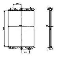 Радиатор DAF 85CF