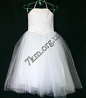 Платье нарядное бальное детское 6 лет Корсет белое Украина оптом.