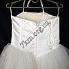 Платье нарядное бальное детское 6 лет Корсет шампань Украина оптом., фото 3