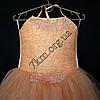 Платье нарядное бальное детское 6 лет Корсет персик Украина оптом., фото 2
