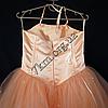 Платье нарядное бальное детское 6 лет Корсет персик Украина оптом., фото 3