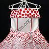 Платье нарядное бальное детское 6 лет Стиляга красный горох Украина оптом., фото 2