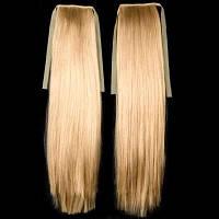 Хвост из натуральных славянских волос 45 см Медовый Блонд