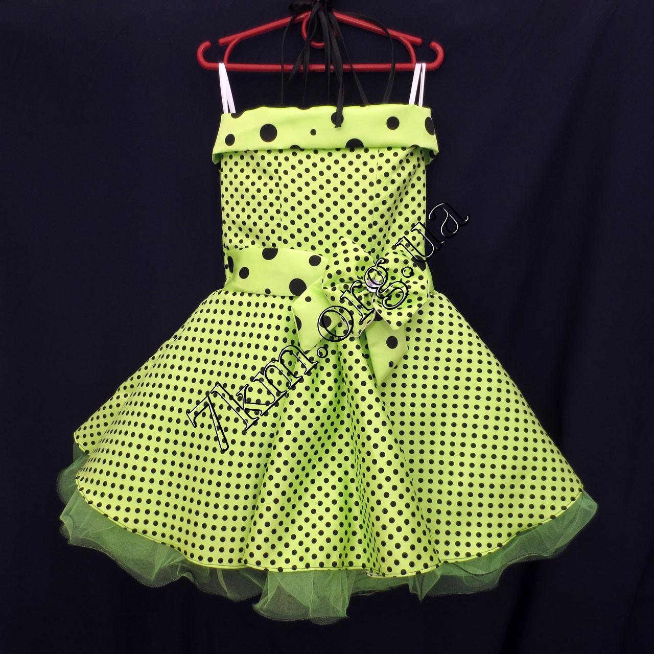 Платье нарядное бальное детское 6 лет Стиляга салат Украина оптом.
