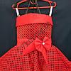 Платье нарядное бальное детское 6 лет Стиляга красное Украина оптом., фото 2