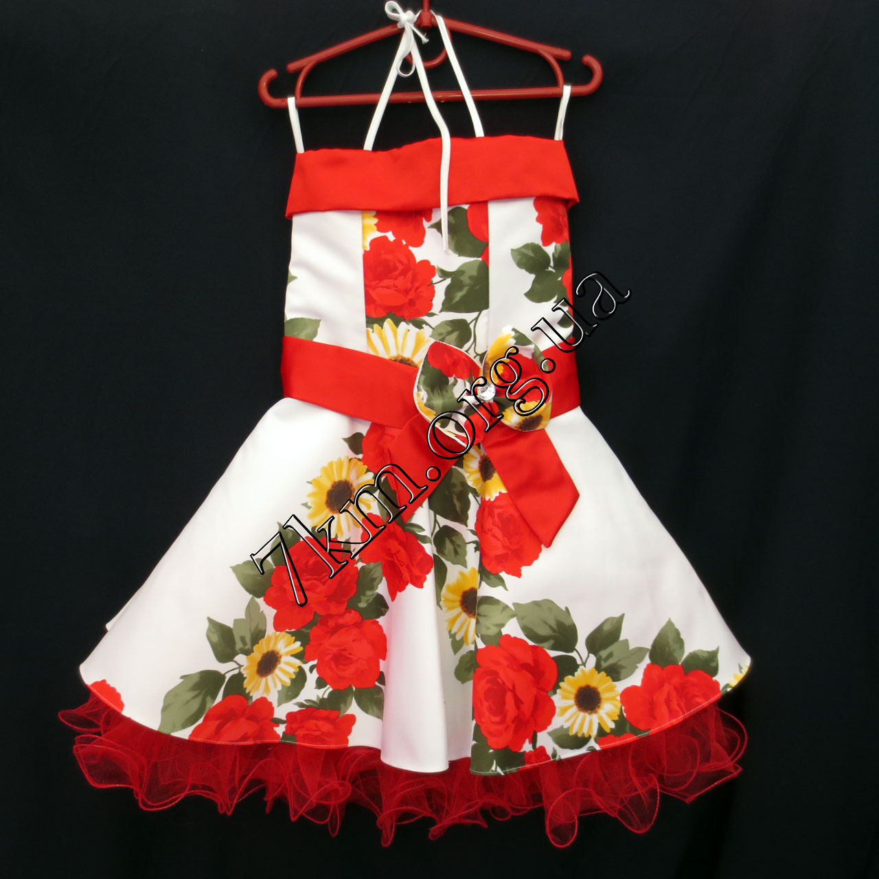 Платье нарядное бальное детское 6 лет Стиляга цветы Украина оптом.