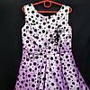 Платье нарядное бальное детское 6 лет Бантикс горохом фиолет Украина оптом., фото 3