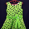 Платье нарядное бальное детское 6 лет Бантикс горохом салатовое Украина оптом., фото 2