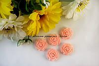 """Кабошон """"Роза"""" розово-персикового цвета, диаметр 2см"""